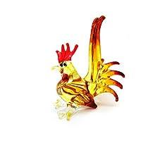 ファームのミニチュア手吹きアート ガラス鶏 No.2 フィギュア コレクション