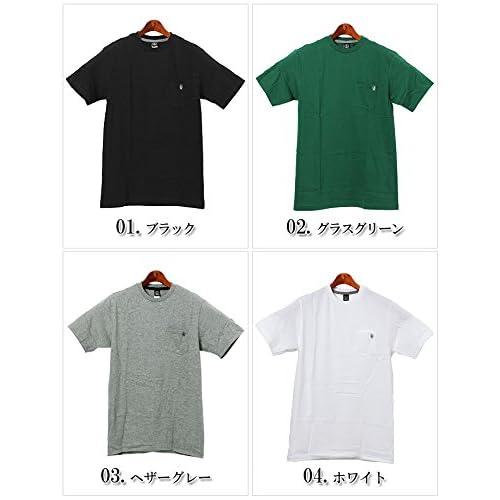 ヴォルコム VOLCOM ポケット ステイプル 半袖 Tシャツ クルーネック メンズ 04.ホワイト S [並行輸入品]
