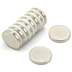 20mm Dia X 3 Mm D'épaisseur Aimant En Néodyme N35 - 3,6 Kg De Traction (pack De 4000)