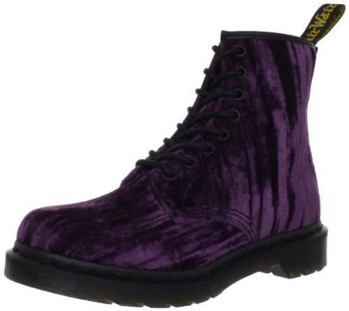 Dr Martens Women's Velvet Castel Purple Lace Ups Boots 14723510 4 UK