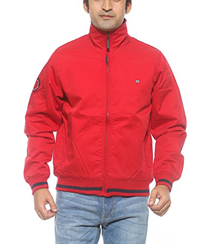 Spykar Men Cotton Red Regular Fit Jackets