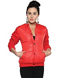 Campus Sutra Cotton Women's Bomber Jackets (AW15_JK_W_P8_PNK_S_Pink_Small)