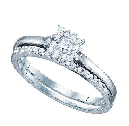 0.24CT DIAMOND 0.09CT CENTER PRINCESS BRIDAL SET