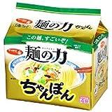 サンヨー食品 サッポロ一番 麺の力 ちゃんぽん 5食入×6個入り