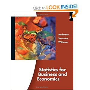 Essentials of Statistics for Business and Economics (with CD-ROM) David R. Anderson, Dennis J. Sweeney and Thomas A. Williams