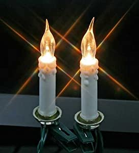 Amazon.com - 20 Clip on Mini Candles Electric String Light Set - Candle Christmas Tree Lights