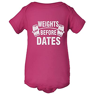 Weights Before Dates Motivation One Piece Baby Bodysuit