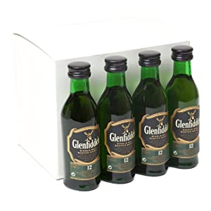 Glenfiddich 12 year old Single Malt Whisky 5cl Miniature UNTUBED - 12 Pack from Glenfiddich