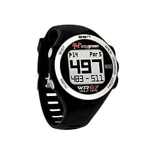Easy Green WR67 Montre de golf GPS avec informations sur les dangers Noir