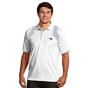 New England Patriots Fusion Polo (White) by Antigua