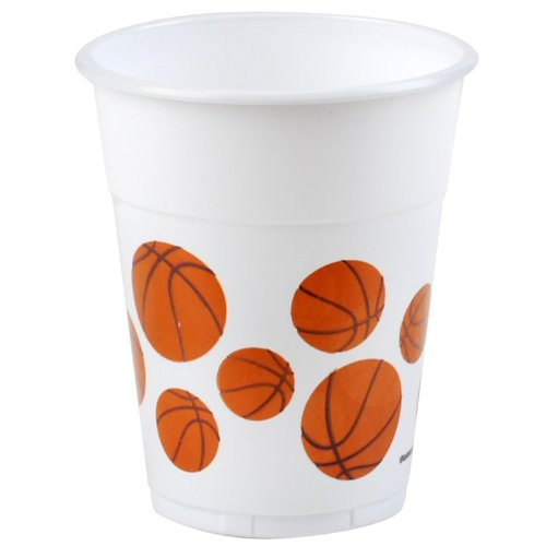 Amscan Mens Basketball 14 oz. Plastic Cups Black Medium