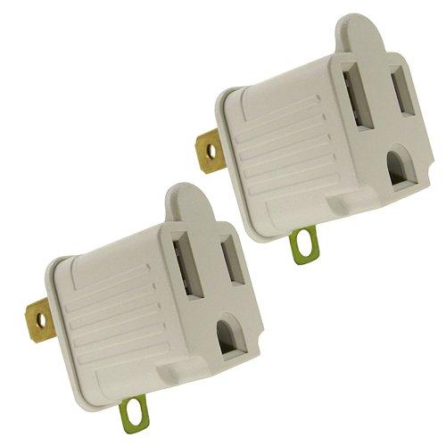 Shaxon Pyf-55-2 Ac Grounding Plug, 3 Prong To 2 Prong