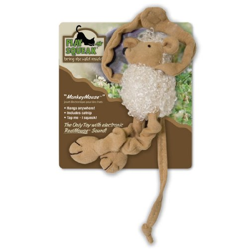 Our Pets CT-10193 Play-N-Squeak Monkey Mouse Cat Toy