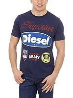 Diesel Camiseta Manga Corta T-Chrestos (Azul Marino)