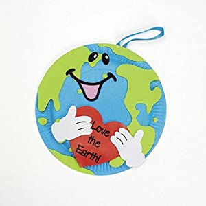 Amazon.com - Love The Earth Paper Plate Decorations Craft Kit - Curriculum Projects & Activities