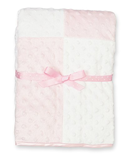 Spasilk Baby-Boys Newborn Minky Raised Dot Blanket with Satin Trim, Pink, 30 Inchx40 Inch