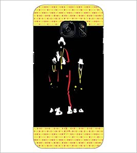 PrintDhaba Dancers D-2668 Back Case Cover for SAMSUNG GALAXY S7 (Multi-Coloured)
