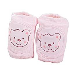 Baby Bear Printed Outdoor Knee Protect Winter Knee Warmer Free Size (Pink)