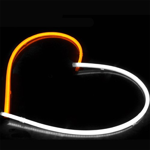 "2X Super Bright White Amber 12"" 30Cm Audi Style Tube Switchback Led Headlight Turn Sign Daytime Running Light Strip Drl For Cadillac Chevrolet Ford Dodge Gmc"