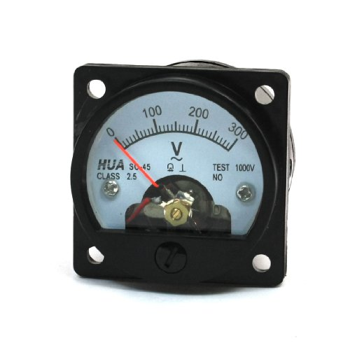 uxcell AC 0-300V Round Analog Dial Panel Meter Voltmeter Gauge Black (Ac Voltage Meter compare prices)