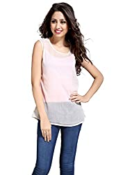 Eighteen 4ever Women's Top (CL010_Half White _X-Large)