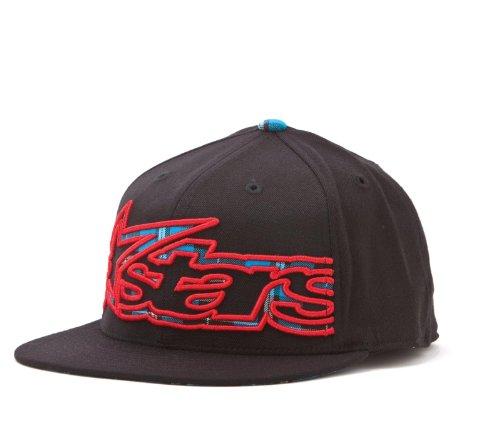 Alpinestars Big Plaid 210 Men's Flexfit Casual Hat - Black / Small/Medium