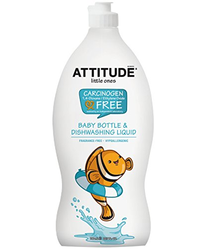 Attitude Baby Bottle and Dishwashing Liquid Fragrance Free, Fragrance Free, 23.7 Fluid Ounce (Hypoallergenic Dishwashing Liquid compare prices)