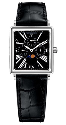 Frederique Constant Carree Moonphase Automatic Stainless Steel Mens Strap Watch Calendar FC-265B3C6