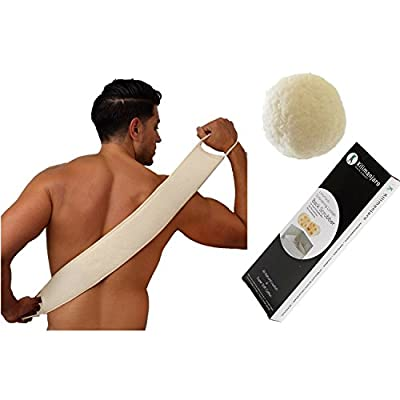 Excellent Loofah Back Scrubber with Konjac Sponge Effectively Exfoliate Leaving Clean Smooth Skin the Ultimate Back Scrubber for Men and Women King of Back Scrubbers