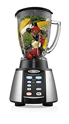 Oster Counterforms 6-Cup Glass Jar 7-Speed Blender, Brushed Stainless Steel