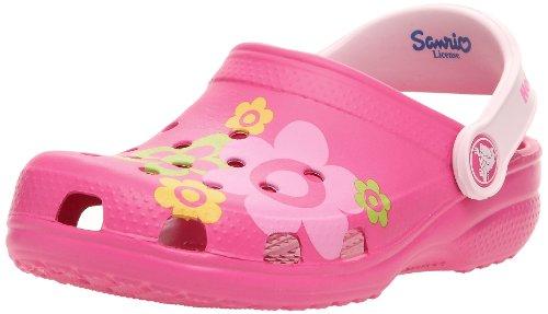 Crocs Junior Classic Hello Kitty Flower Fuchsia/bubblegum Mule and Clog Sandal 11641-68l-135 2 Uk