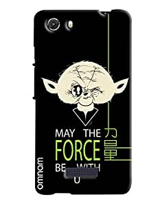 Omnam May The Force Be With You Printed Designer Back Cover Case For Micromax Unite 3