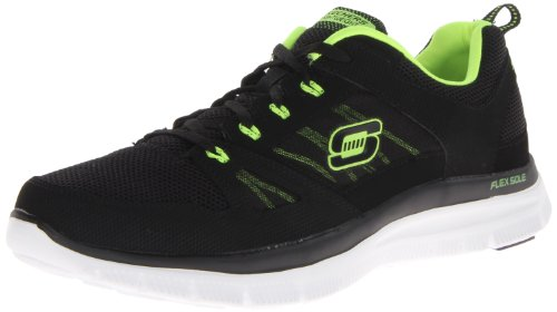 Skechers Men's Flex Advantage Tune In Trainers Black Noir (Bklm) 43