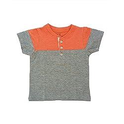 Snoby Summer Cool T-shirts Orange&Grey _18-24m (SBYK1312)
