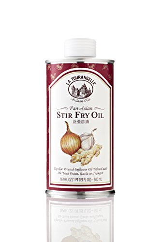 La Tourangelle Pan Asian Stir Fry Oil - Subtle flavors of stir fried onions, garlic and ginger - Expeller-pressed - 16.9 Fl. Oz (Wok Oil compare prices)