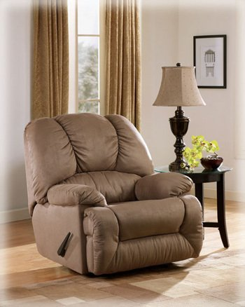 Duraplush Mocha Rocker Recliner by Ashley Furniture