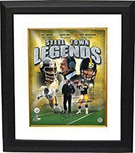 Pittsburgh Steelers signed Steel Town Legends 16x20 Photo Collage Custom Framed 3 sig... by Sports Memorabilia