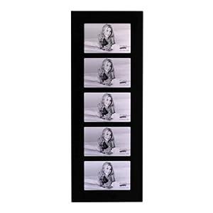"Kenro Black Glass 6x4"" 5 Aperture Photo Frame (BG1015/5 ..."