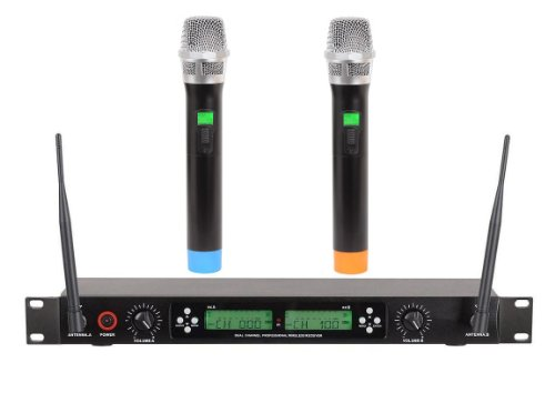 GTD Audio G-522H 200 Channel UHF Professional Wireless microphone Mic System (Metal Handheld Microphones)