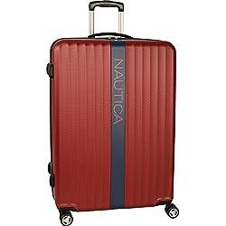 Nautica Surfers Paradise 28 Inch Hardside Spinner Suitcase - Burgundy/Navy