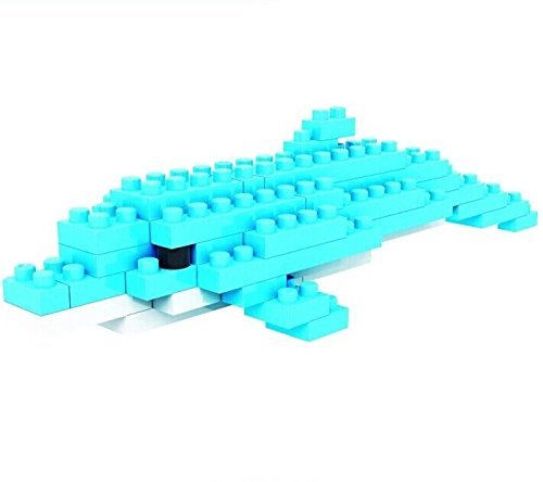 Dolphin Blue Ocean LOZ Diamond Nano Mini Building Blocks Enlighten Bricks Figure