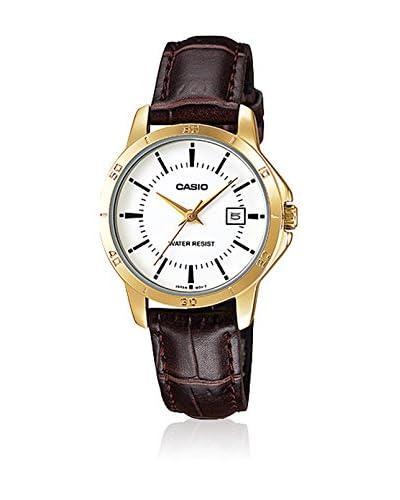 Casio Reloj con movimiento cuarzo japonés Ltp+V004Gl.7A Marrón 35  mm