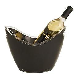 True Vino Black Modern Ice Bucket