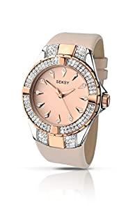 Sekonda Seksy Intense Two tone Rose Gold Case And Nude Coloured Leather Strap 2082