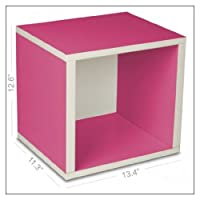 Way Basics Eco Friendly Storage Cube, Color = Pink