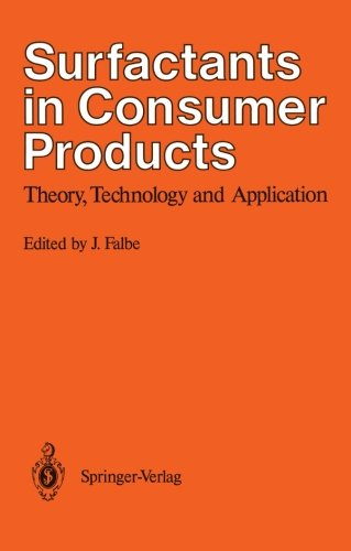 Surfactants In Consumer Products: Theory, Technology And Application