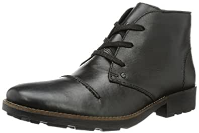 Rieker Men's 36000 Cold lined classic boots short length Black Size: 7.5