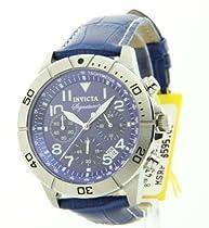 Invicta Signature II Chronograph Blue Leather Mens Watch 7282