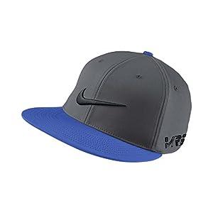 2014 Nike Golf Flat Bill Tour Fitted Golf Cap Dark Grey/Hyper Cobalt Medium/Large