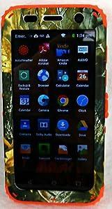 ZTE Z813 Overture 2 Maven Fanfare Cover Case Tree Camo Camouflage w/ Orange from Phone Art